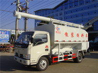China Euro3 diesel 95hp dongfeng small 8m3 feed truck for sale
