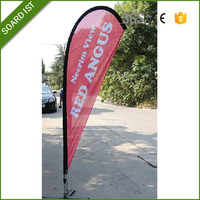 Advertising pizza windsurf sail flag banner double side printed
