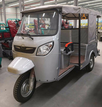 Back To Back 9 Seat 3 Wheel Motorcycle Taxi Car / 150cc, 175cc, 200cc Motorized Petrol Tricycle