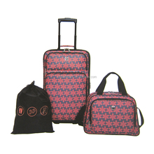 "China Luggage Factory Supply 21"" Expandable Upright + Boarding Bag + Cinch Bag 3 Piece Trolley Case Luggage Set"