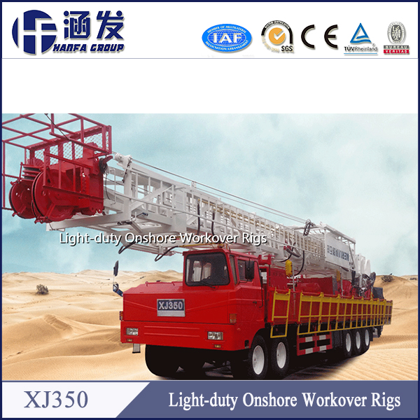 Hot sale ! XJ350 mobile workover rig for oil field