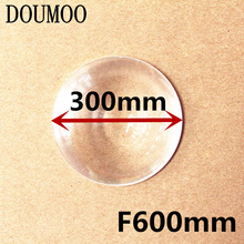 PMMA Round Lens Diameter 300 mm Fresnel Lens long Focal length 600mm Solar concentrator High light condenser used Plane enlarge