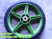12 inch solid rubber wheel with plastic rim