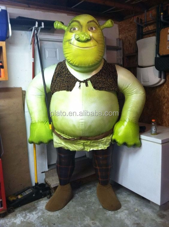 High quality custom design inflatable Shrek Character/giant inflatable Cartoon Monster for sale