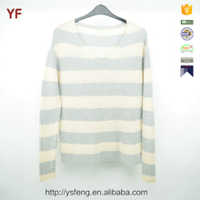 Stylish Pullover Striped Knit Sweater For Young Girls