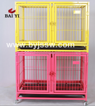 Large Dog Kennel With Wheels And Galvanized Two Tiers Dog Kennel With Plastic Tray (Good Quality, Hot Selling)