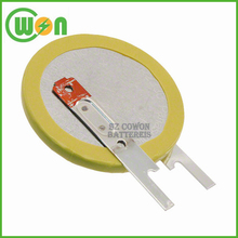3V Lithium coin cell CR2335 battery with pins button battery with customized solder pins