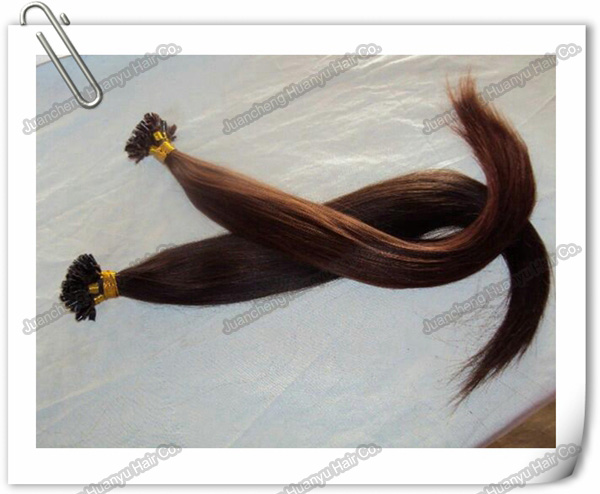 Hot selling plastics stick I-tip 100% hair extension decorative hair nets