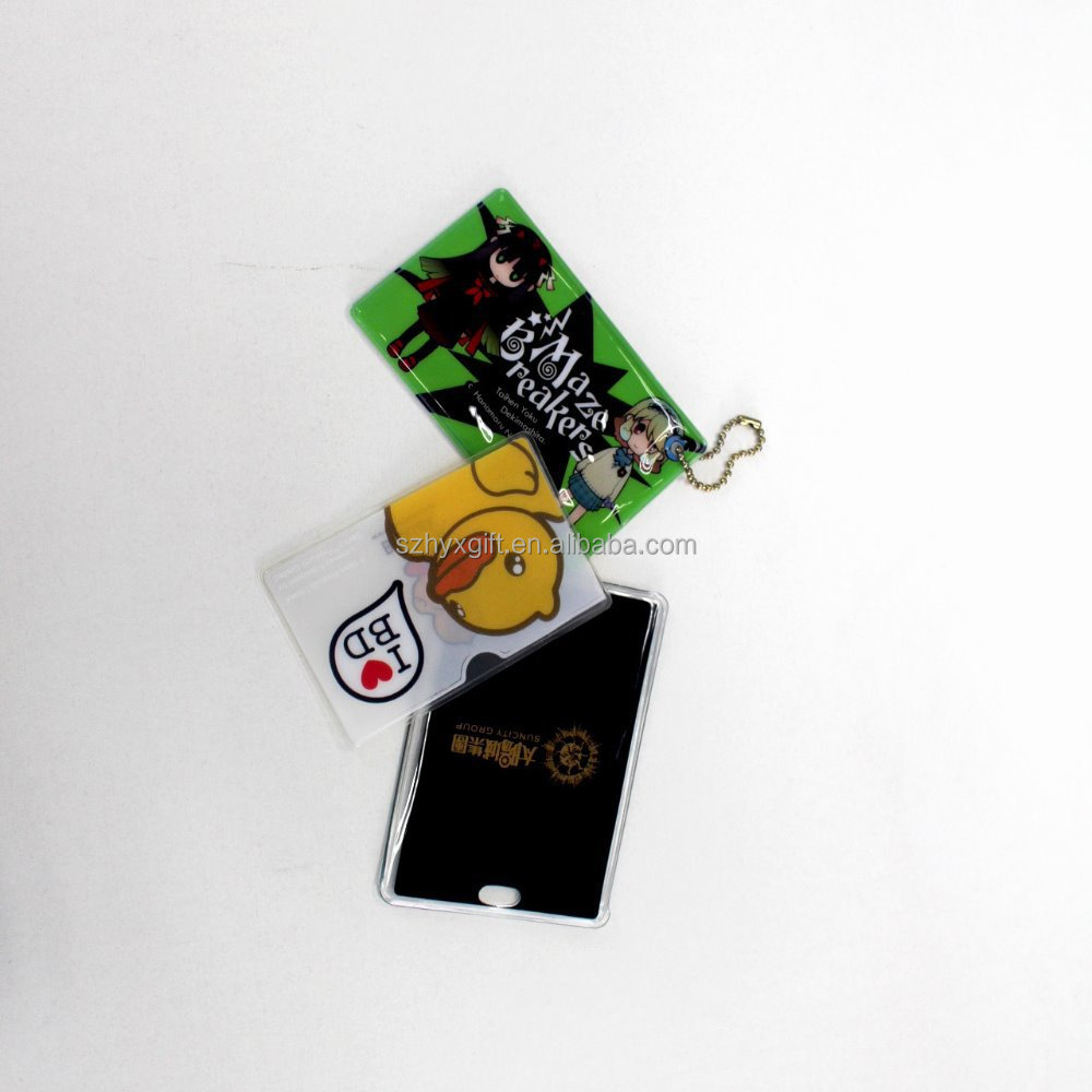 Soft wholesale custom promotional plastic card holder