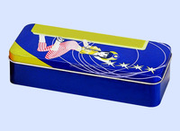 Lovely design with high quality, grade A materil, rectangular shape,pencil tin box