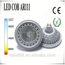 Hot sale silver high power ar111 cob led spotlight g53