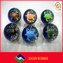 2014 soft kids toy rubber bouncy ball/toy flat ball