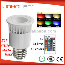 High quality 4w rgb led spot led rgb remote controller