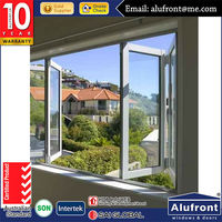 nz standard assembly aluminum Bi-fold Window with double glass