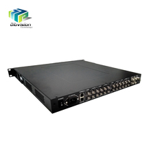 DVB-S and DVB-S2 fta satellite receiver ip tv converter with 8 channels CVBS out to Analog modulator