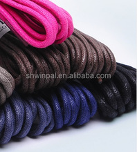round wax shoelaces