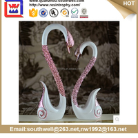 New item resin swan statue desk decoration