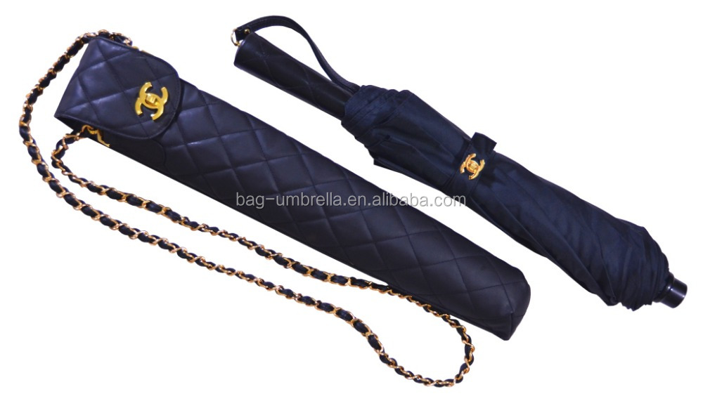 best quality lady umbrella wedding favors umbrella with leather case