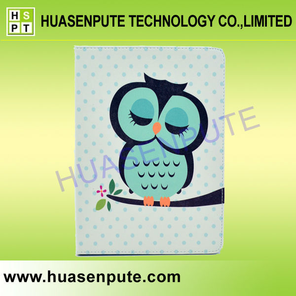 Cute Cartoon Owl Flip Leather Stand Case Cover for iPad5