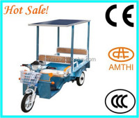 solar electric tricycle ,electric rickshaw ,electric tricyclefor passenger with solar panle , AMTHI
