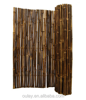 Attractive Natural Rolled Black Artificial Bamboo Fence
