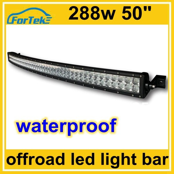 cree/Epistar 288w curved led light bar 50inch arch bent led for boats, motorships, offroad