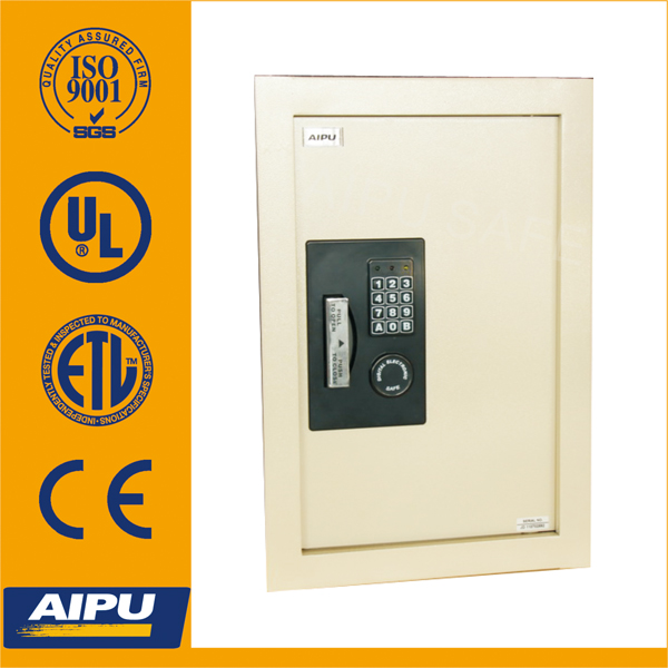 Expandable hidden wall safe EXWS2113E / electronic wall safe / 2mm body , 6mm door/ 559 x 381 x 83~140mm .