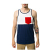 Two tone fashion mens wholesale blank pocket tank top men