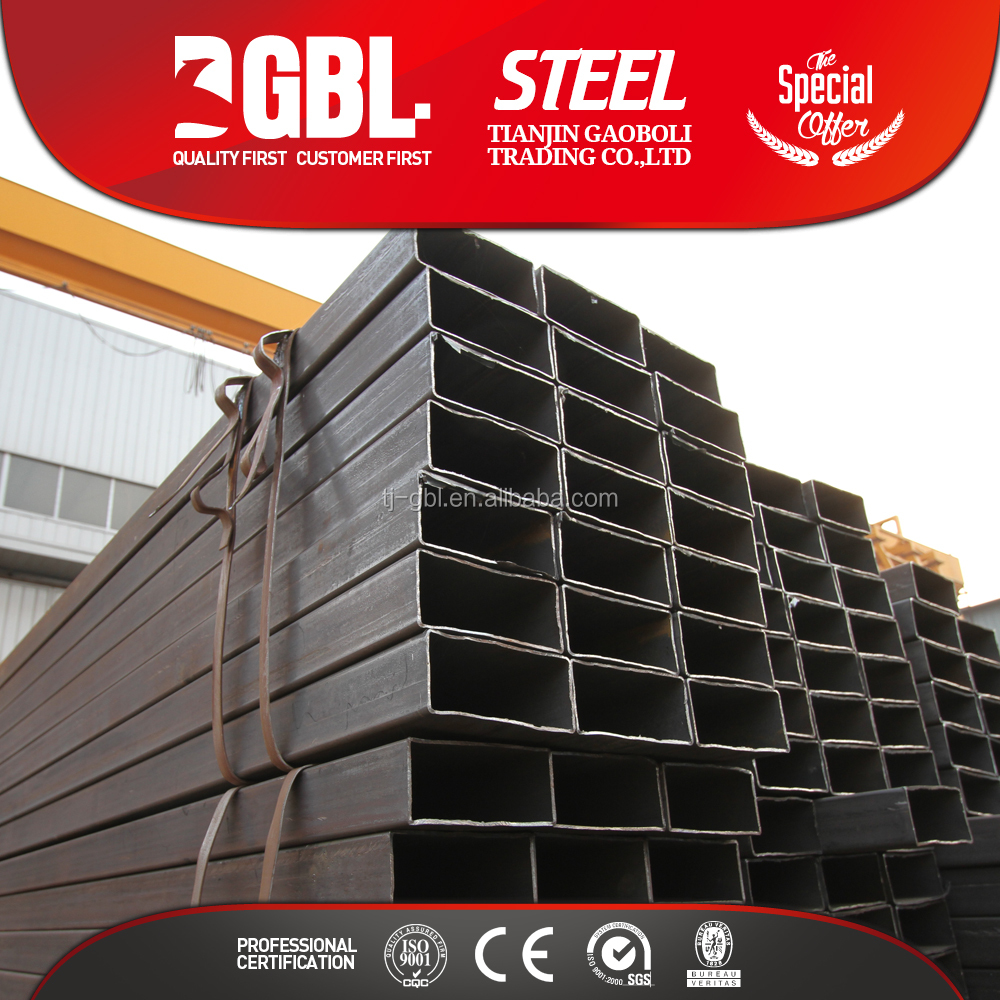 hollow section 36 inch welded rectangular steel pipe tube with pipe weight chart for for greenhouse frame