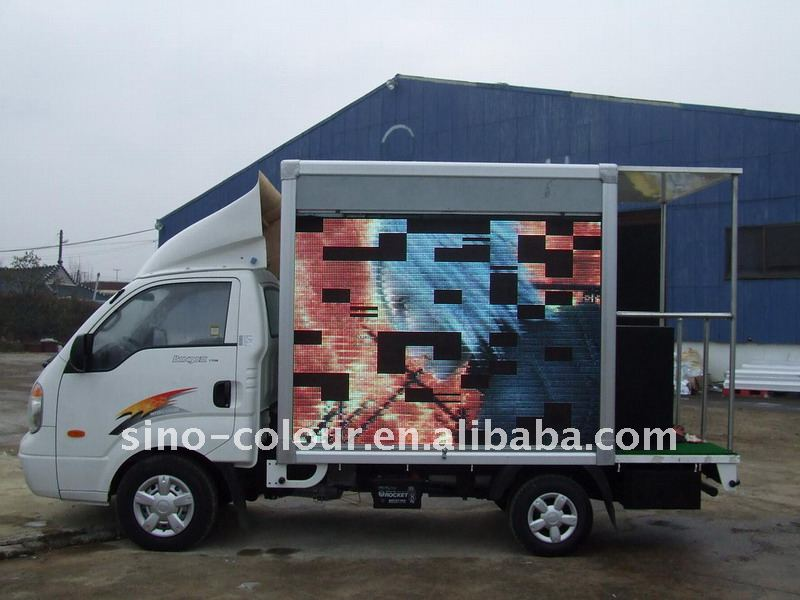 Outdoor advertising mobile truck led display