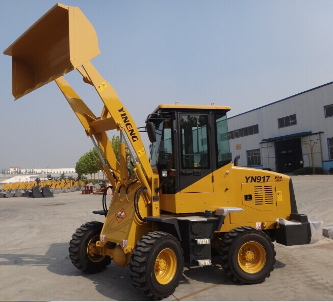 Heavy construction equipment 1 ton small wheel loader front end loader for sale