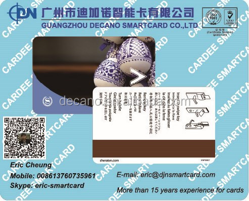 Dual interface RFID T5577 with Hi-co Magnetic stripe hotel key card