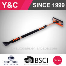 wholesale and retail 60''super extendable snow broom and telescopic snow brush with ice scraper and heavy-duty snow brush
