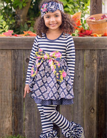 Remake fall matching shirt and pants pieces wholesale kids boutique ruffle outfits