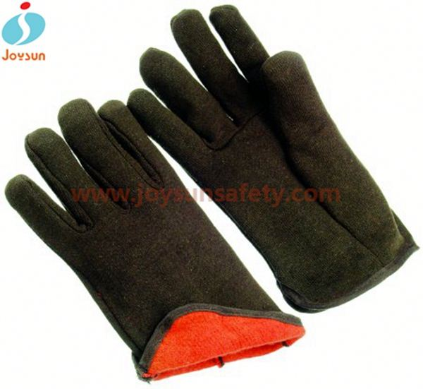 Safety glove Oil and Gas cotton lined latex gloves