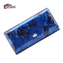 Fani creative rfid blocking handmade leather wallet
