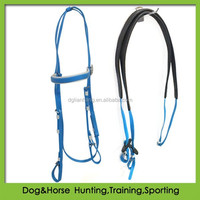 Racing or Eventing Bridle PVC with Rubber Grip Reins