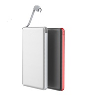 Slim leather effect emergency usb 5000 mah mobile phone portable charger