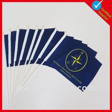 High quality world cup public gathering swing custom hand flag