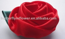 RED ROSE BROOCH HAND CRAFTED CORASAGE,Hat decoration,BIF-FLOWER-804