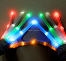 LED Lighting Party cotton flashing magic Gloves Wide Optical Fiber