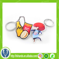 promotional key chain 3D pvc custom rubber keychains