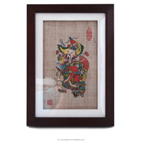 Rectangle Frame Handmade Painting Chinese New Year Picture Art for Table Top