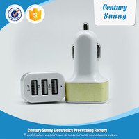 Multiple mobile phone battery 3 usb car charger,3-port usb car charger