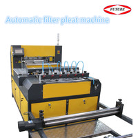 Full-automatic blade pleating machine for making air filter
