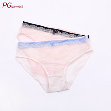 assorted color girls sexy lace transparent mesh ladies bikini lace panties for women
