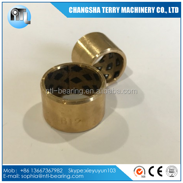 High resistant oilless graphite bronze bushing
