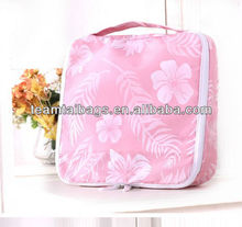 nylon jacquard hanging toiletry travel bag organizer