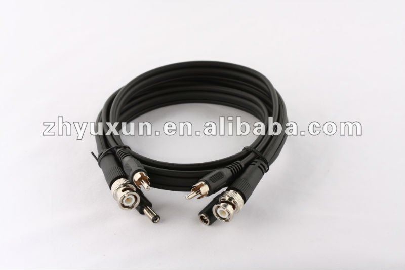 RG59 BNC+RCA CCTV cable assembly
