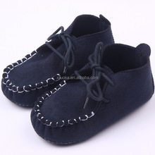 Wholesale Kids shoes baby moccasins with shoelace for baby boy shoes